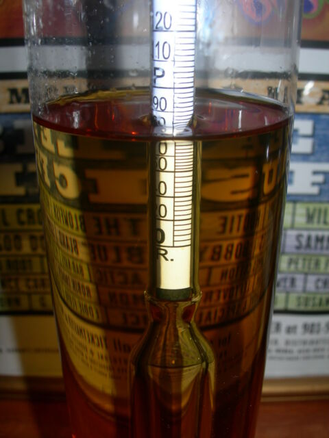 % ALCOHOL HYDROMETER  PROOF &  TRALLE  for DISTILLED SPIRITS and MOONSHINE STILL