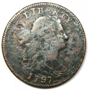 1797-Draped-Bust-Large-Cent-1C-Fine-Details-Rare-Early-Date-Coin