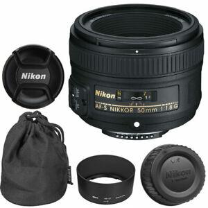 NEW Nikon 50mm f 1.8G AF-S NIKKOR Lens for Nikon DSLR Cameras ... 97d0f8ef2fd