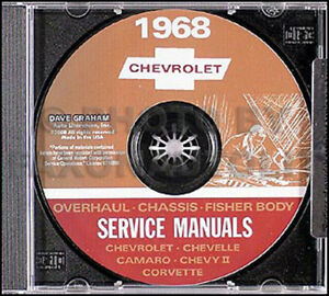 1968 Chevy CD Shop Manual Camaro Chevelle El Camino Corvette Impala Caprice Nova