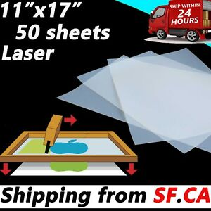 Details about 11x17 in,50 sheets,Silk Screen Printing Transparency Laser  Printer Printing Film