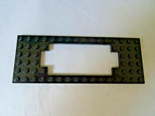 LEGO PART 3058B BLACK 6 x 16 MODIFIED PLATE WITH MOTOR CUTOUT x 1