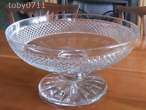 ST-LOUIS-CRYSTAL-MAINTENON-OVERSIZED-FOOTED-BOWL-ENORMOUS-Ref2151