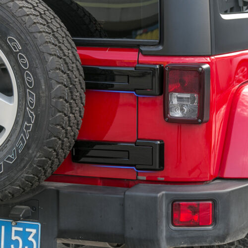 Tailgate Bracket Hinge Trim Spare Tire Covers For 07 Jeep JK Wrangler Unlimited