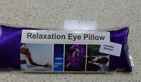 Eye Pillow Linseed Flaxseed - Yoga - Purple Satin -lavender / Unscented