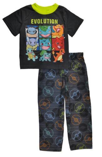 Pokemon Boys Evolution Two-Piece Pajama Pant Set Size 4 6 8 10