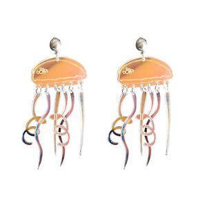 Women-Boho-Dangle-Drop-Stud-Earring-Acrylic-Resin-Ear-Jellyfis-Earrings-Jewelry