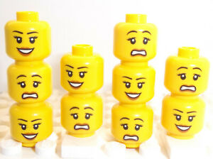 LEGO Head Piece SCARED HAPPY LADY Smile Double-Sided Face Part for Minifigure