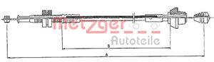 Cable Acelerador se ajusta Ford Ka 96-08 1032225
