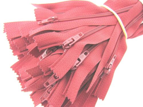 5 x Nylon Closed End Zips Listing 1