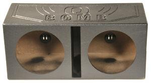 NEW-Q-POWER-QBOMB15V-Dual-15-034-Vented-Port-Subwoofer-Sub-Box-w-Bedliner-Spray