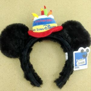 Disney Mickey Write Grove Headband Ears Hat HairBand Ear Plush Hand