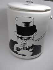"""Vintage Large 15"""" W.C. Fields Ice House Chest Beer Cooler Box by Hamilton Skotch"""