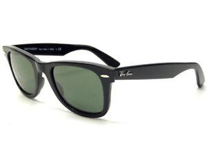 Occhiali-da-Sole-Ray-Ban-Limited-nero-verde-g15-RB2140-unisex-donna-uomo-901