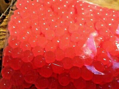 3 TROUT STEELHEAD  SOFT PLASTIC  EGGS 8 MM  #3 DARK RED  25 CT PACK SALMON