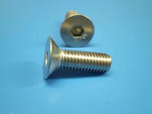 100-Teile-Edelstahl-Innensechskant-Schrauben-DIN-7991-Muttern-M6-Sortiment