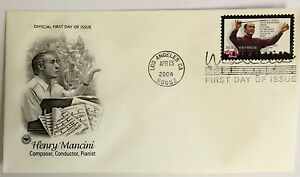 10-USPS-PCS-Henry-Mancini-2004-37c-Stamp-FDC-Cover-3839-First-Day-Issue-NEW