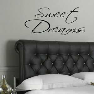 LARGE BEDROOM WALL QUOTE SWEET DREAMS  GIANT ART STICKER TRANSFER DECAL STENCIL