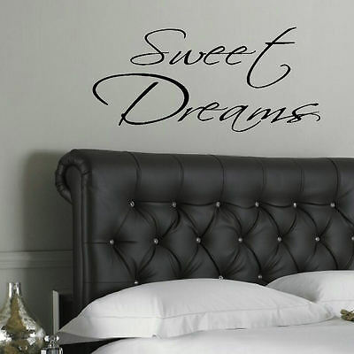 Sweet dreams inspirational quote Wall Sticker transfer Decal Bedroom gift v017