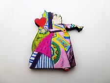 Alice nel Paese delle Meraviglie La Regina di cuori in legno Spilla Pin Badge