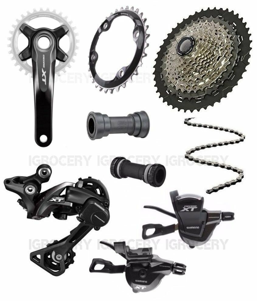 Shimano Deore XT M8000 PressFit or BSA BB   CRM81 ChainRing Groupset 11 46T New  good quality