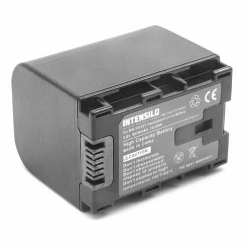 BN-VG121E Batería Intensilo 2670mAh Para JVC BN-VG121 BN-VG121AC