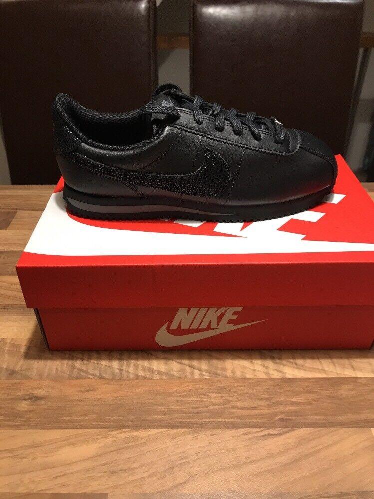 Nuovo Nuovo Nuovo Pelle TRIPLE di Zecca Nike Cortez Pelle TRIPLE Nuovo nere   23eb2a