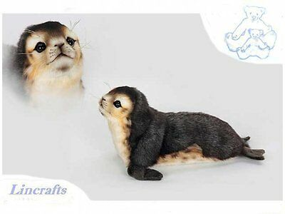 Monk Seal Pup Plush Soft Toy Sea Creature by Hansa. Sold by Lincrafts. 6803