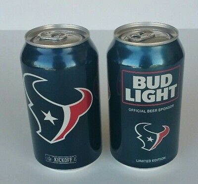 Houston Texans Bud Light 12 Oz Beer Can Limited Edition