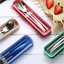 3pcs-set-Spoon-Fork-Chopsticks-Stainless-Steel-Travel-Cutlery-Tableware-Box-Sale thumbnail 2