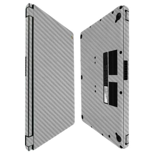 Skinomi Silver Carbon Fiber Skin+Screen Protector For Acer Chromebook 15 2016