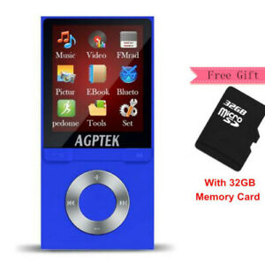 AGPTEK® Portable Bluetooth MP3 Music Player with FM Lossless
