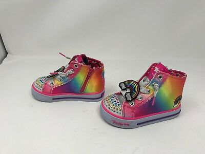 Girls Skechers 10812L TWINKLE TOES SHUFFLES STAR STEPS Shoes 411i