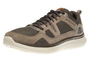 Details zu Skechers Sneakers in Übergrößen große Herrenschuhe Braun XXL