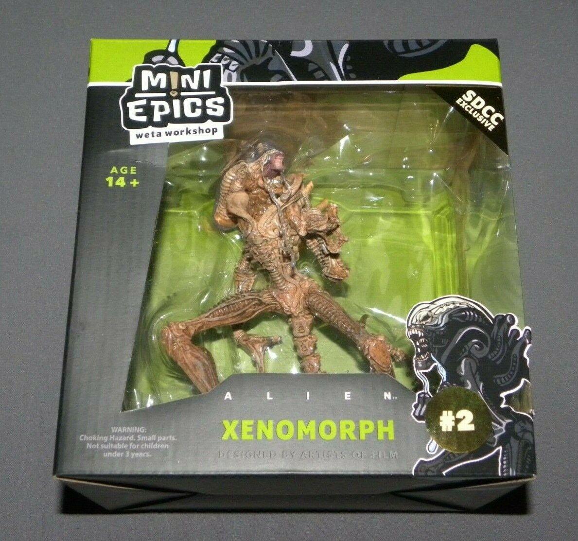 Weta Taller Alien Xenomorfo Mini Epopeyas Sdcc Exclusivo Nuevo