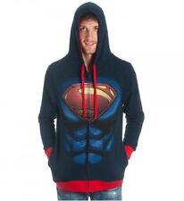 Superman Hoodie Jacket Adult MEDIUM, New