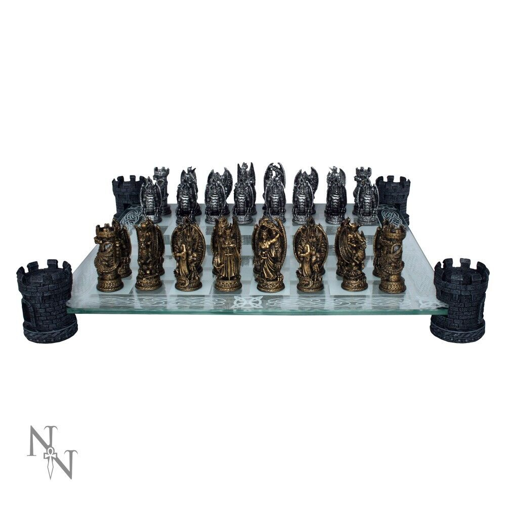 High Quality Kingdom Of The Dragon Chess Set Fantasy Gift Board Game Gothic