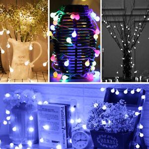10m 50m Ball Berry Fairy Light Romantic Girls Kids Bedroom Led Hanging Christmas Ebay