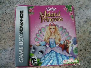 Gameboy-Advance-Game-GBA-SP-DSL-BARBIE-as-the-ISLAND-PRINCESS-12-Mini-games