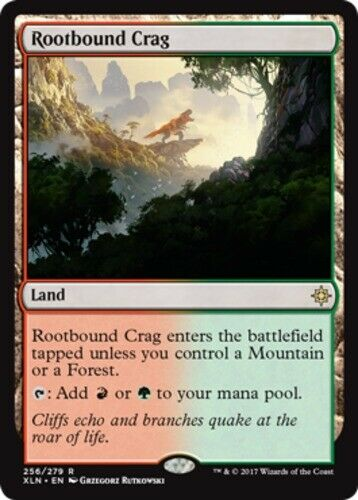 English MTG Ixalan 1x Rootbound Crag NM