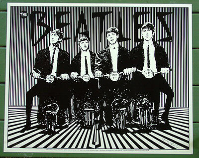 The Beatles•Art by Stanley Mouse 1989•Limited Edition Numbered Litho #412 POSTER