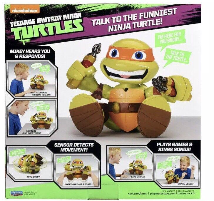 Teenage Mutant Ninja Turtles Talk-to-Me Voice Response Mikey TMNT Figure NEW