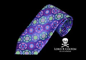Lord-R-Colton-Masterworks-Tie-Pisa-Amethyst-Colorful-Woven-Necktie-New