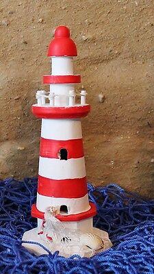 Deko Leuchtturm Rot / Weiß Ca. 20 Cm X Ø: 8 Cm Aus Holz Kataloge Werden Auf Anfrage Verschickt