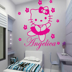Great Image Is Loading Custom Name Hello Kitty Wall Decal Sticker Art