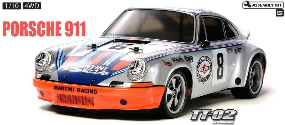 Tamiya 58571 Porsche 911 bilrera RSR 4WD TT -02 RC Kit bil  MED Tamiya ESC Enhet