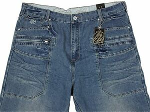MENS-BIG-SIZE-MCCARTHYJEANS-STRAIGHT-LEG-BLUE-VINTAGE-COLOUR-SIZES-40-034-TO-60-034