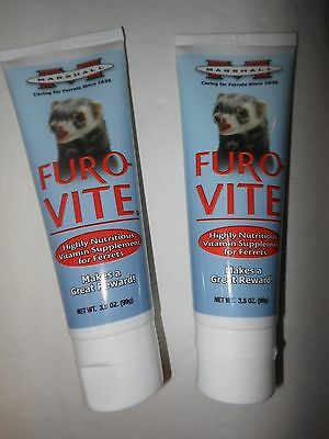Marshall FuroVite Furo Vite Ferret Vitamin Supplement -2 tubes