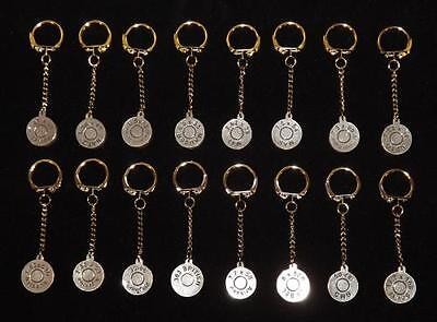 Sporting Calibre Cartridge Head Stamped Key Rings