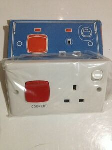 CLIPSAL-45A-Classic-Double-Pole-Cooker-Control-Switch-with-13A-Socket-Schneider